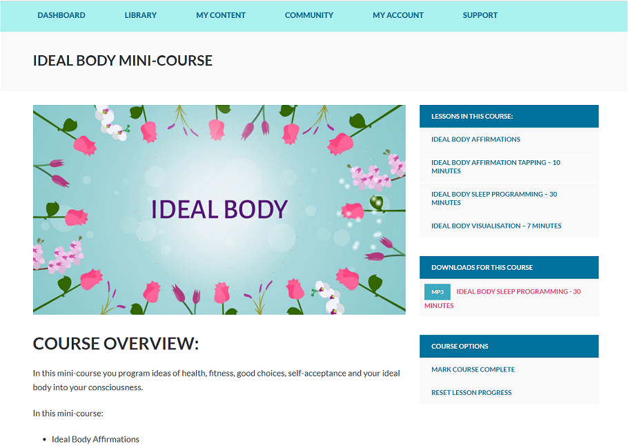 Ideal Body Mini-Course