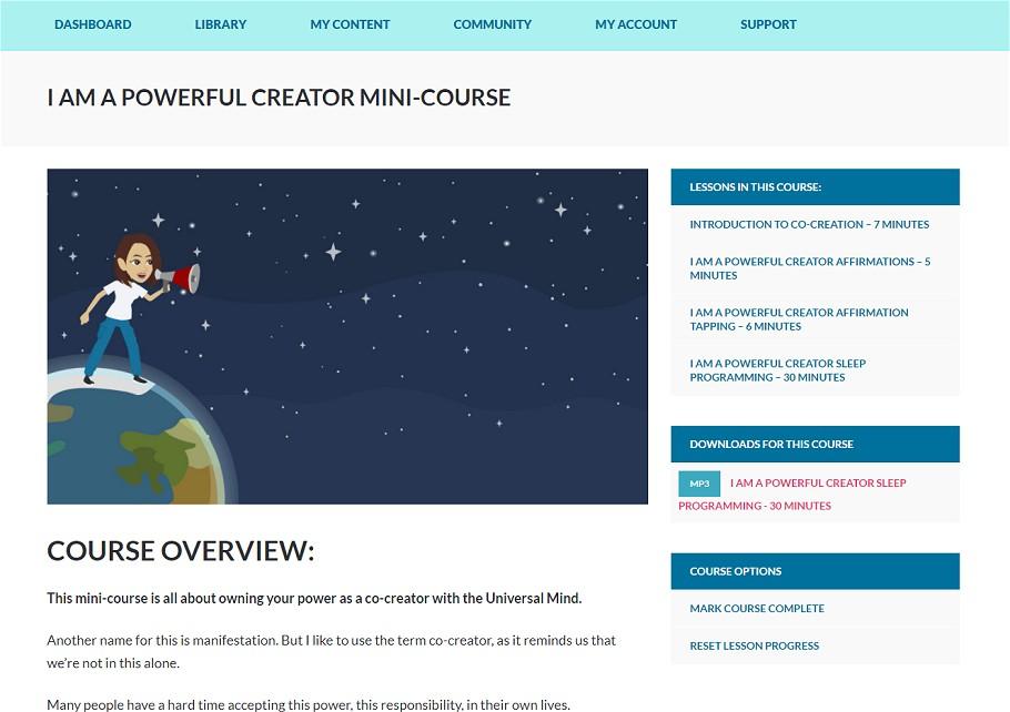 I Am A Powerful Creator Mini-Course